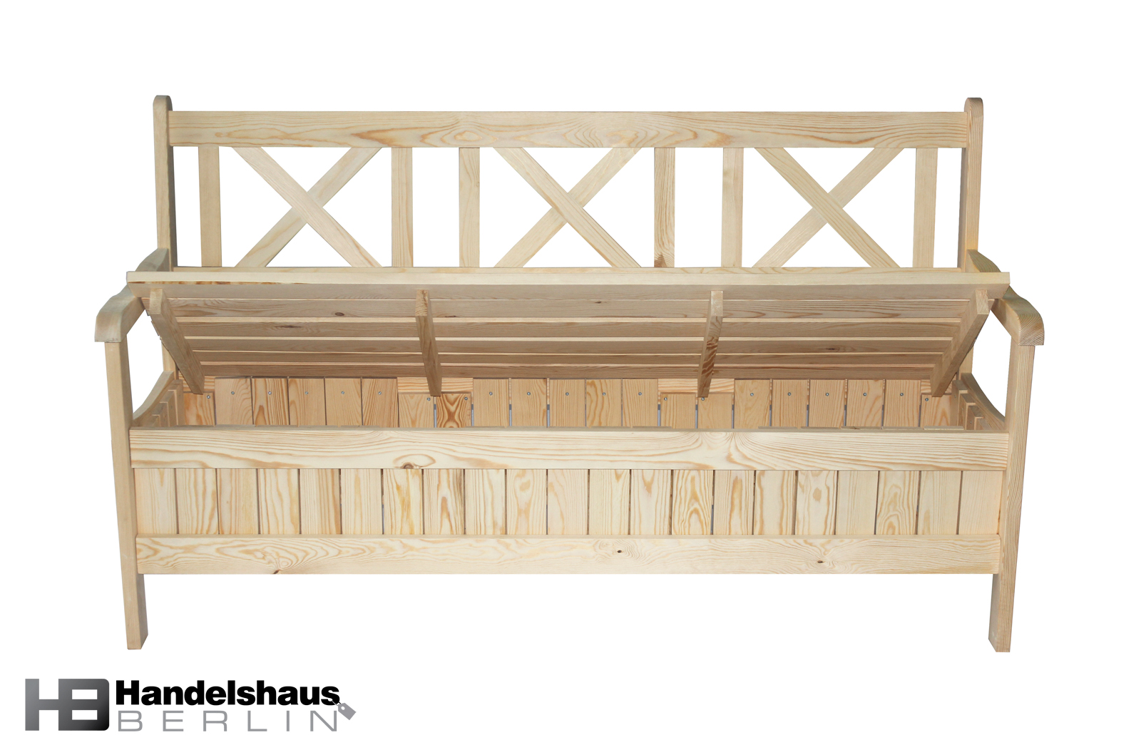 holzbank gartenbank sitzbank inkl stauraum 3 sitzer kiefer massiv ebay. Black Bedroom Furniture Sets. Home Design Ideas